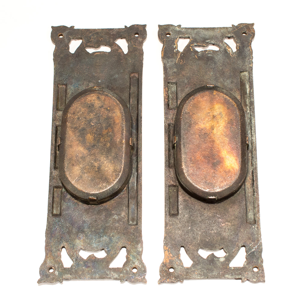 Columbian Pattern Victorian Pocket Door Pulls
