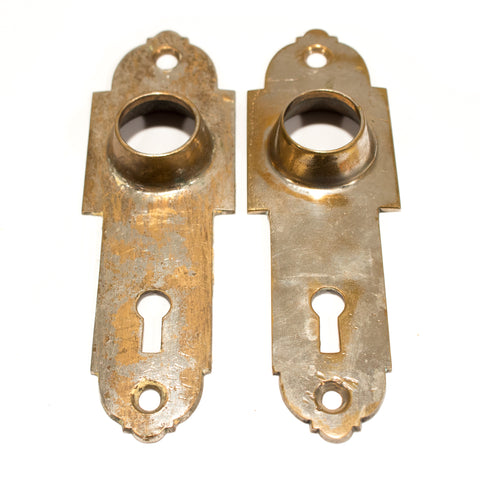 Niles Chicago Nickel Escutcheons Door plates