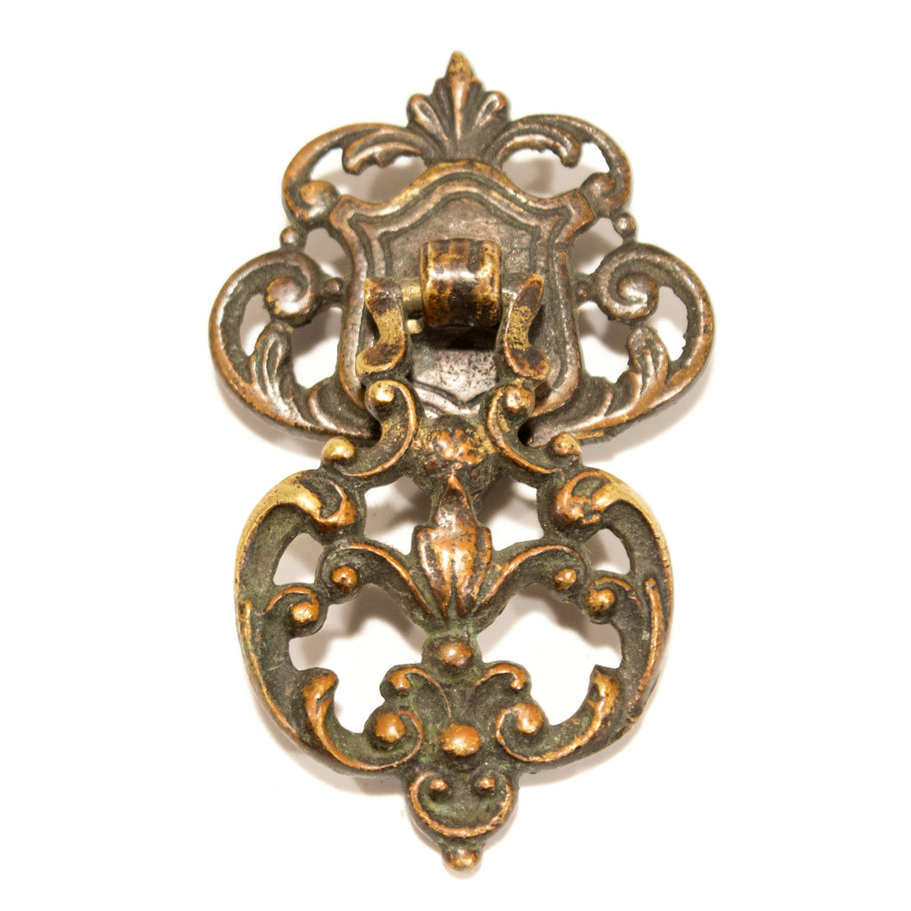 Ornate Nouveau Drop Cabinet Pull