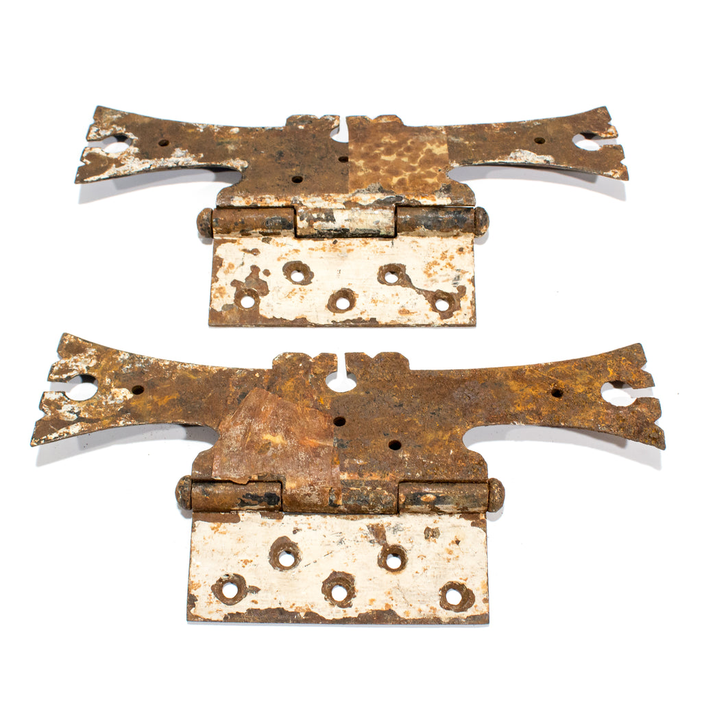 Large Iron Rustic Decorative Door Hinges
