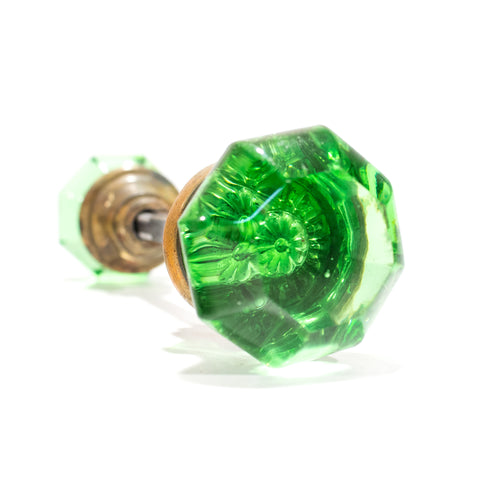 Green Glass French Door Knobs