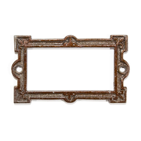 Victorian Iron Label Card Holder