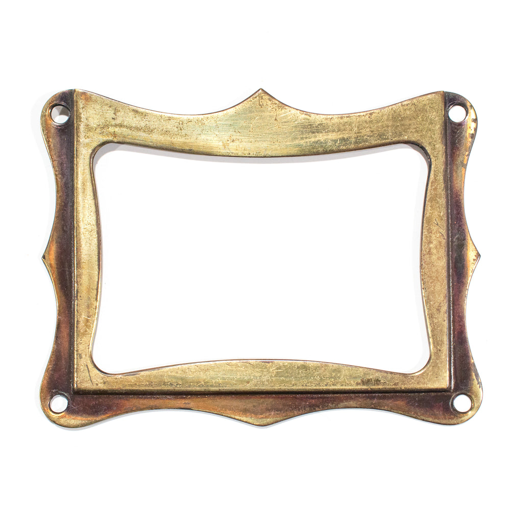 Brass Card File Label Holders
