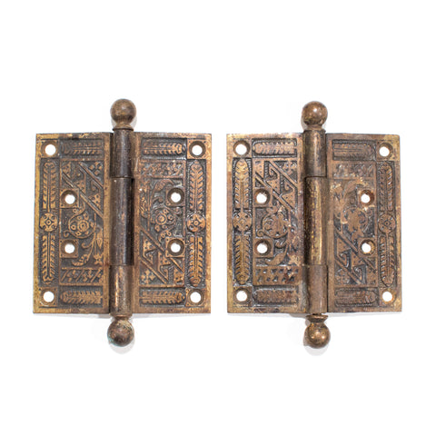 Large Victorian Door Hinges Pair