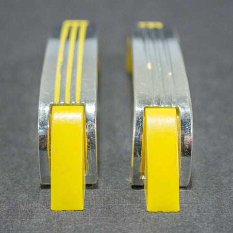 Deco Streamline Yellow Chrome Pulls