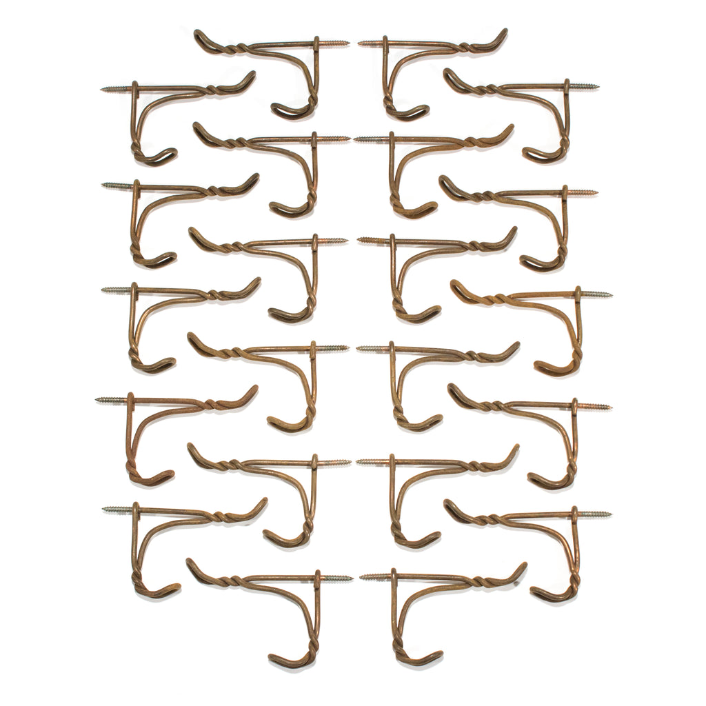 Antique Twist Wire Screw In Hooks