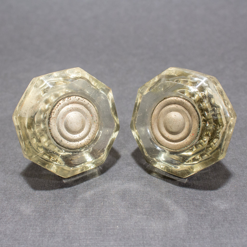 Rare Schlage 1940's Glass Dummy Door Knobs