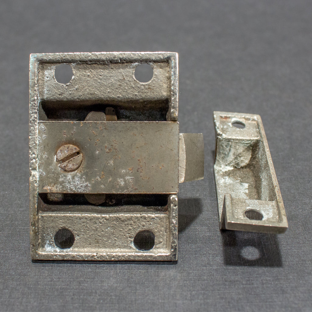 Gorgeous NOS Nickel Turn Knob Cabinet Latches