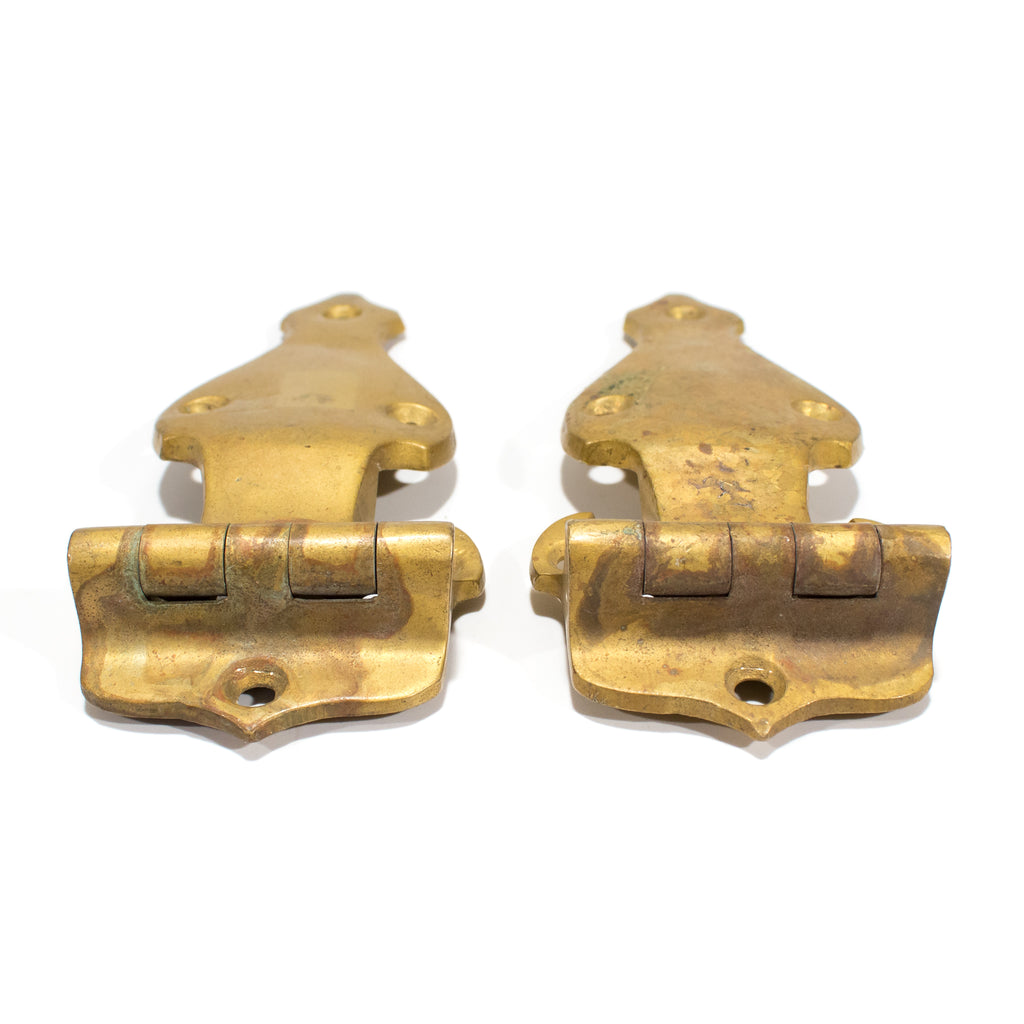 Brass Icebox hinges (Pair)