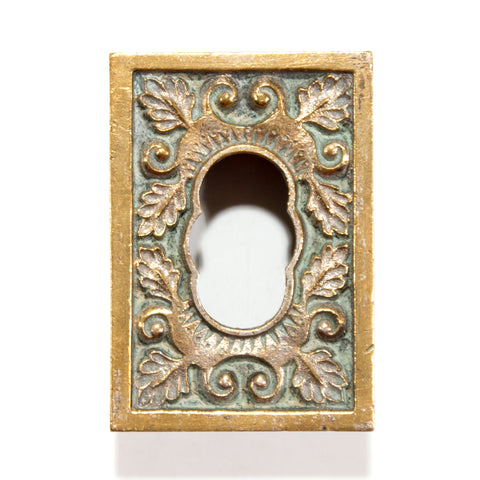 Recessed Victorian Ornate Pulls Possibly Fireplace
