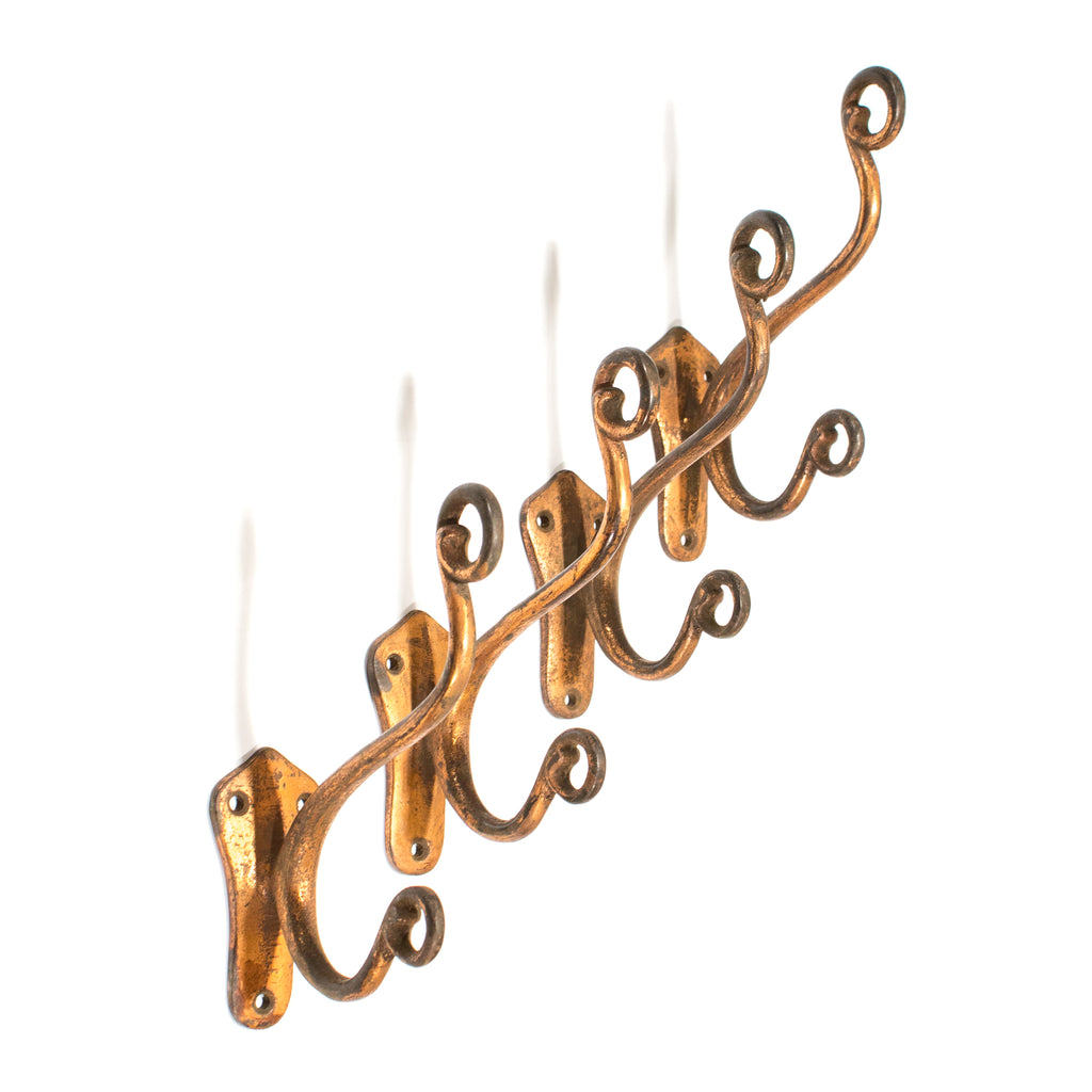Copper Wash Large Nouveau Iron Hooks