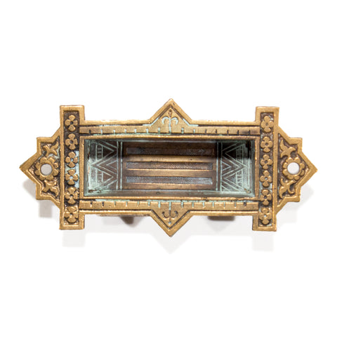Aesthetic Bronze Victorian Mortised Window Lifts Pulls