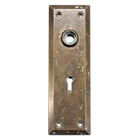 Square Bevel Craftsman Door Plates