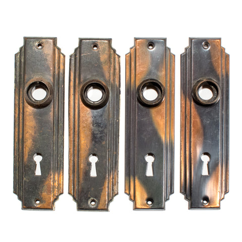 Copper Japan Finish Deco Door Plates
