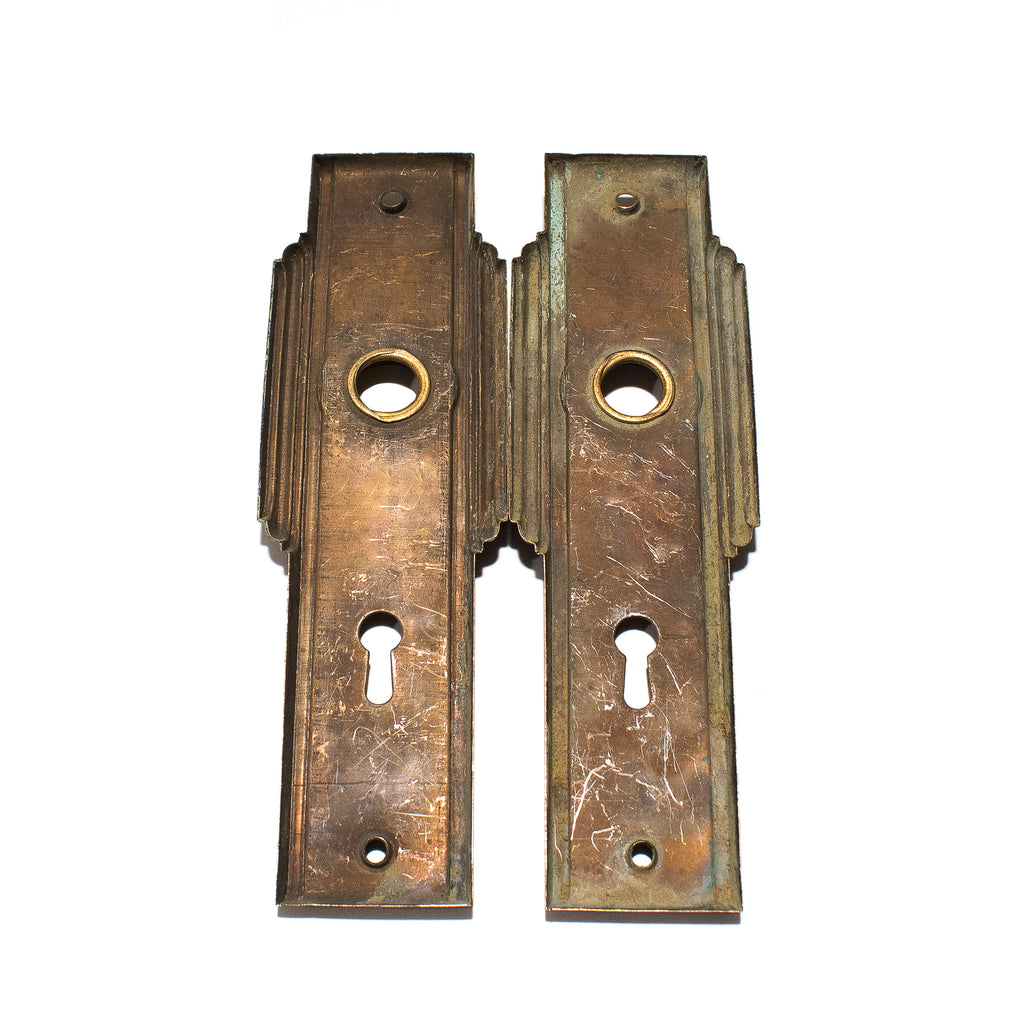 Late Deco Streamline Door Plates