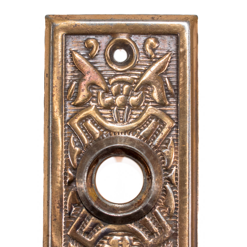 Victorian Eastlake Door Plate Escutcheon