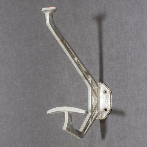 Aluminium Art Deco Coat Hat Double Hook