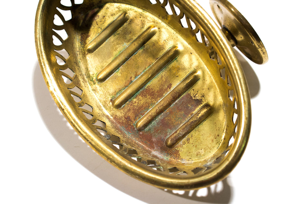 Sternau Pierced Brass Soap Holder