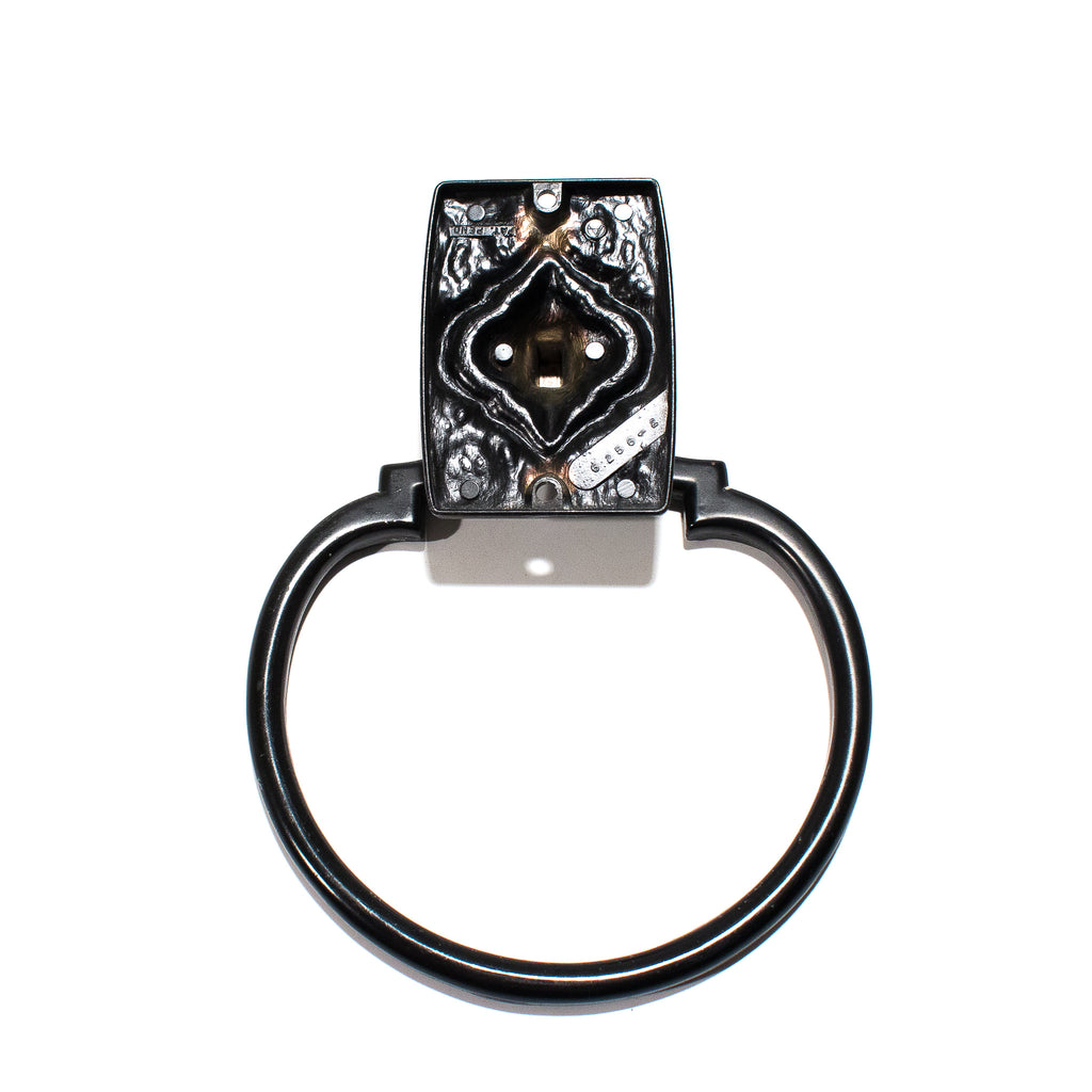 Silver Carriage House 1960's Towel Ring