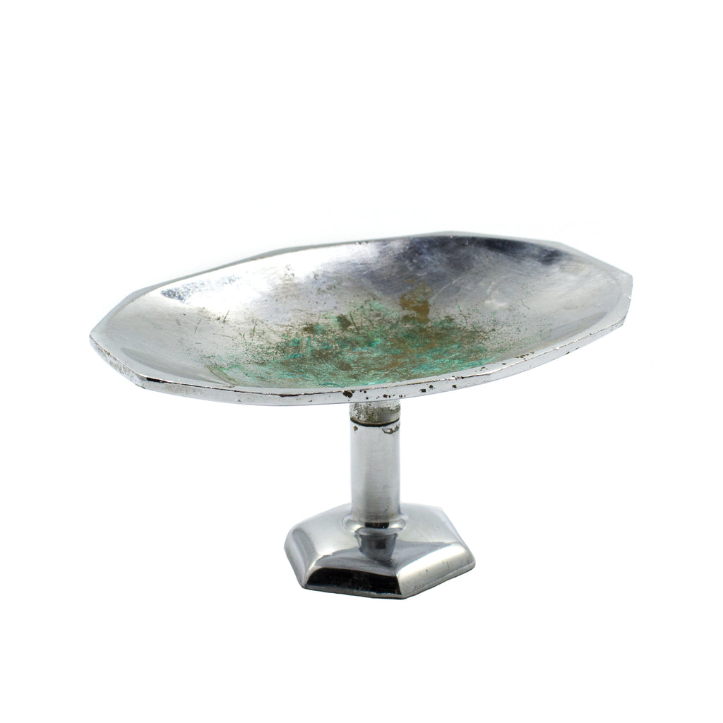 Deco Chrome Deck Mount Nickel Soap Dish