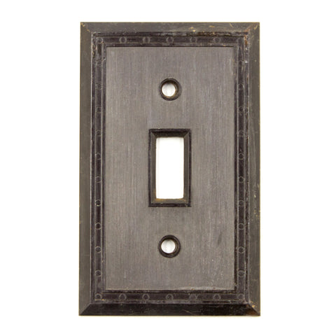 Brown Bakelite Deco Switch Plate