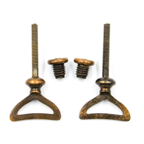 Bronze Mirror Hardware Cheval (Pair)