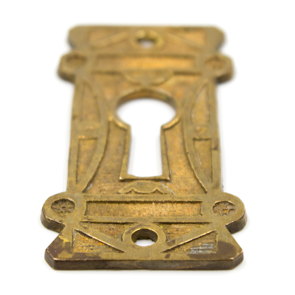 Cast Bronze Geometric Victorian Key Hole Covers