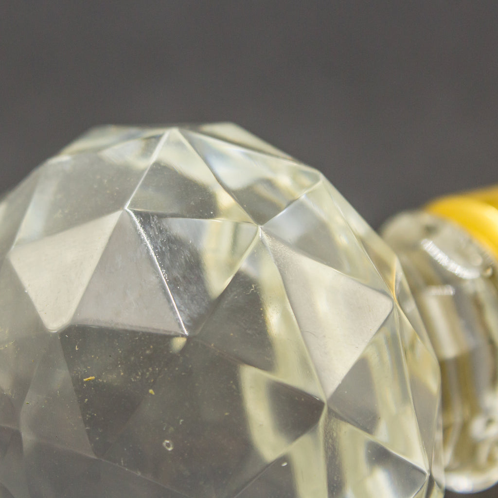 Faceted Repro Crystal Brass Door Knobs