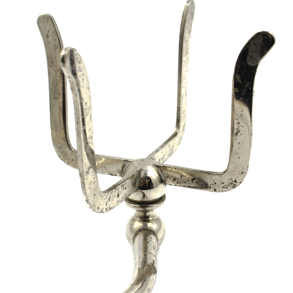 Brasscrafters Nickel Prong Double Cup Holder c.1910