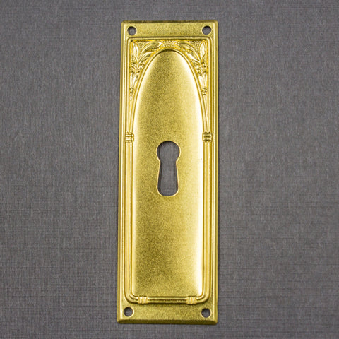 Brass Olive Branches Rectangular Key Hole Cover