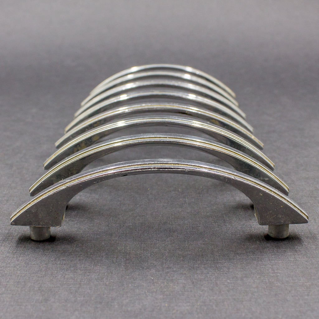 Slim Striped Chrome Deco Pulls