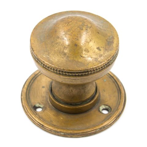 Beaded Brass Antique Dummy Knob