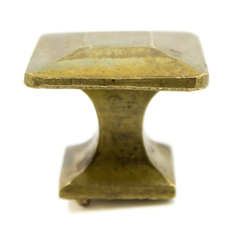 Square Mission Brass Knobs