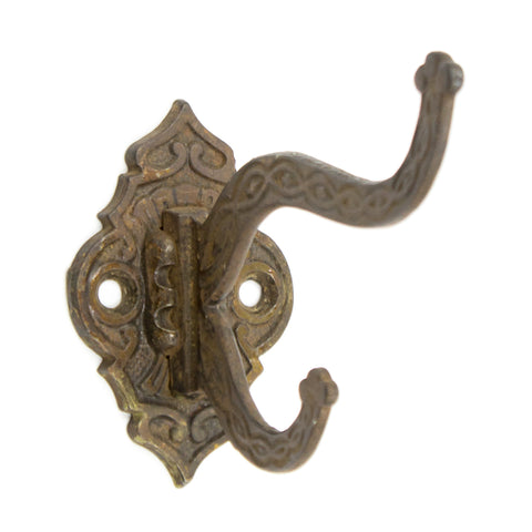 Detailed Iron Victorian Coat and Hat Hook