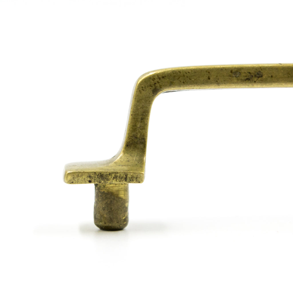 Square Brass Mission Drawer Pull