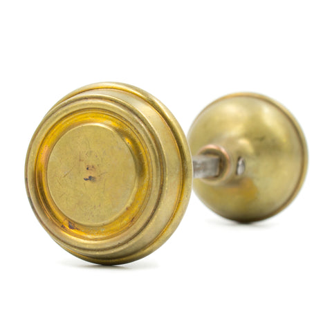 Ringed Round Craftsman Door Knob Set