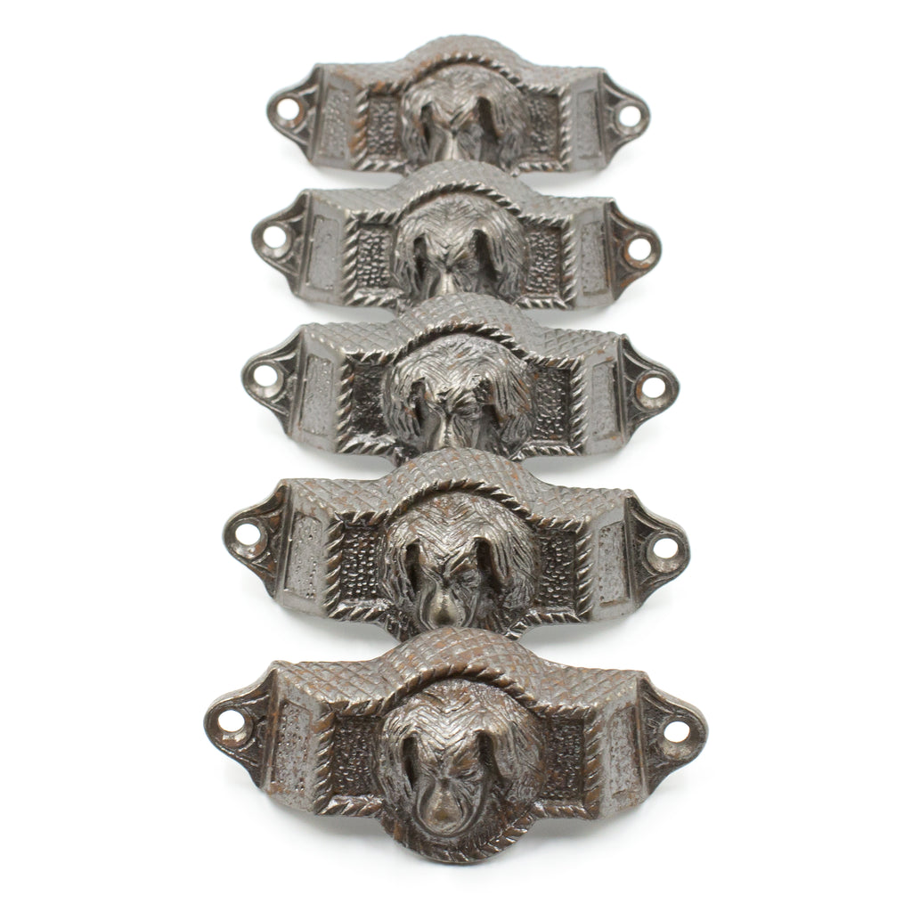 Cast Iron Reproduction Dog Bin Pull