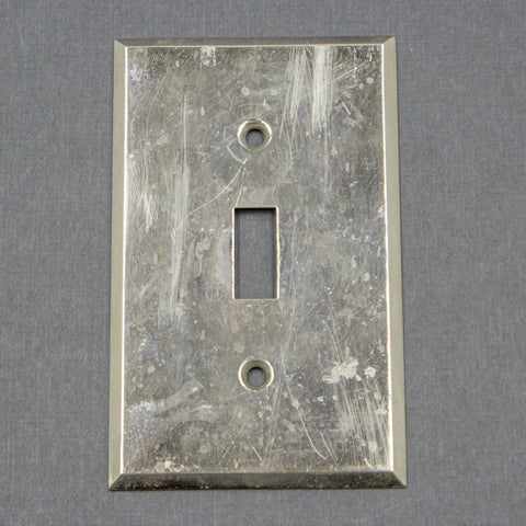 Chrome Antique GE Light Switch Plates