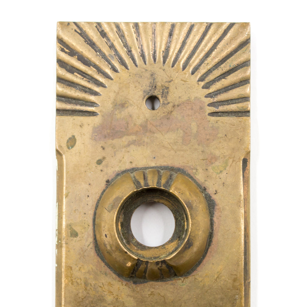 Craftsman Brass Sunburst Door Plate