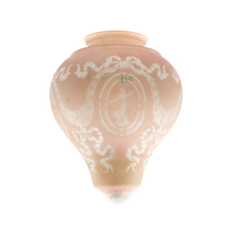 Light Pink Ornate Greecian Acorn Light Shade