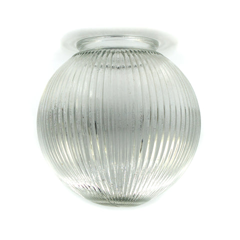 Clear Ribbed Ball Globe Shade