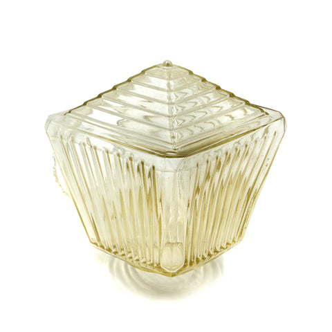 Clear Stepped and Ridged Porch Light Shade