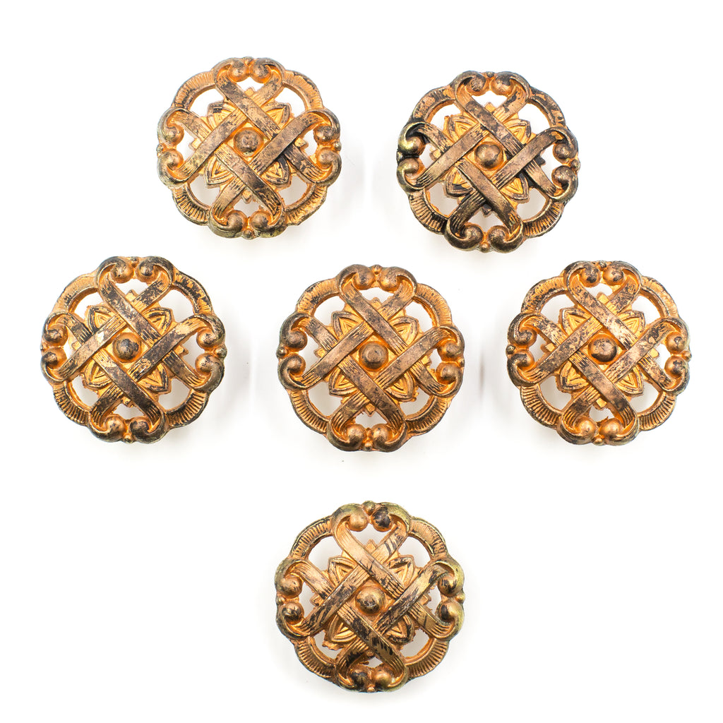 Mid-Century Faux French Allison Ornate Knobs