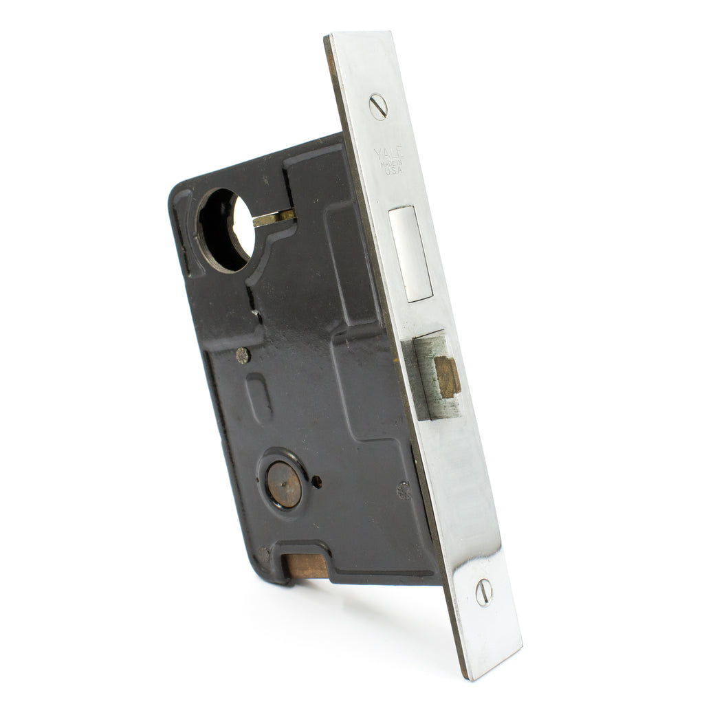 NOS Yale Entry Chrome Face Mortise Lock