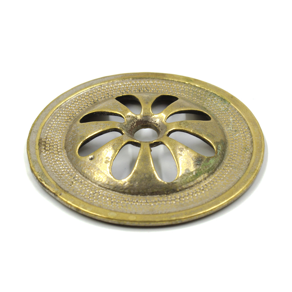 Cast Brass Antique Overflow Cover