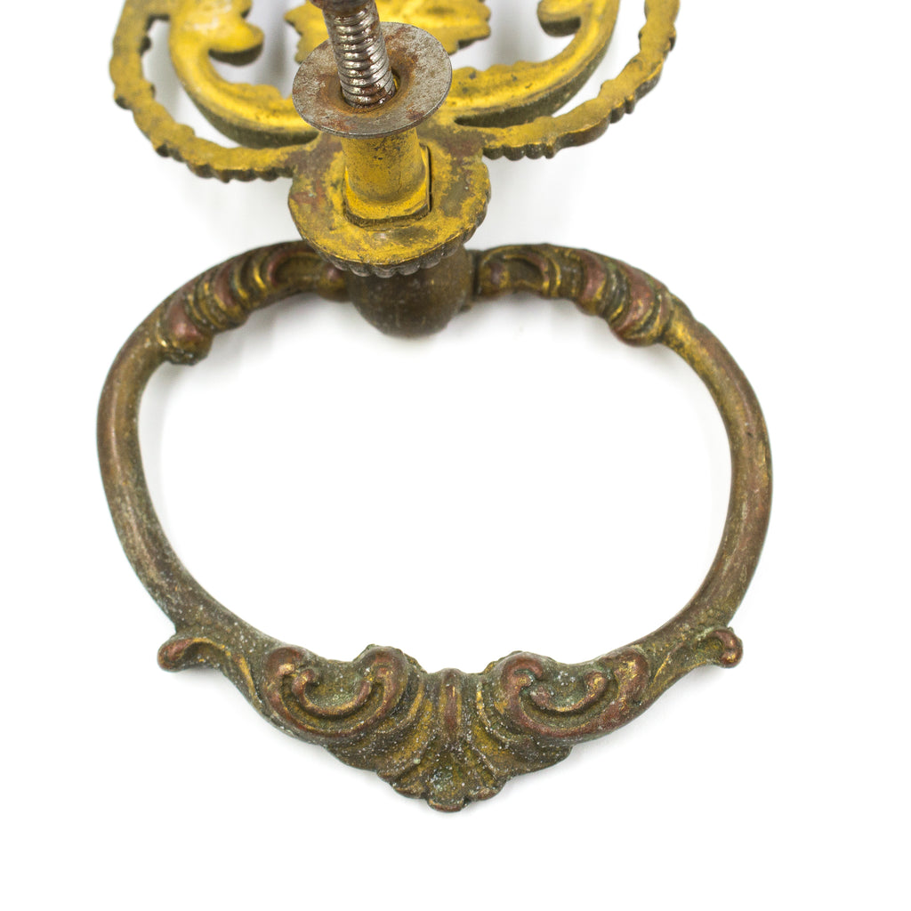 Large Floral Brass Ring Pulls