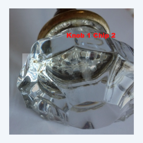 Oval Fluted Glass Doorknobs (pair)