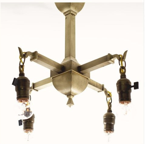 Petite Mission Four Light Ceiling Fixture