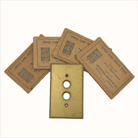 NOS Push button Brass Switch Plates