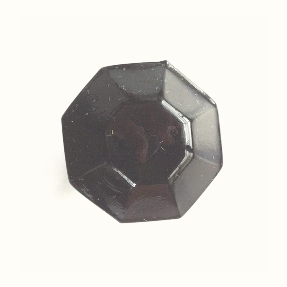 Octagonal Glass Cabinet Knob with brass base